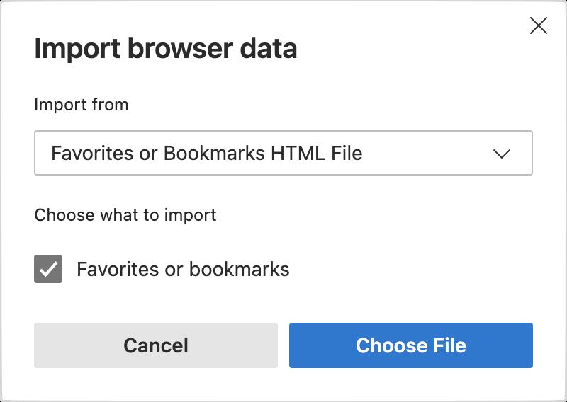 Microsoft Edge Import Browser Data Prompt