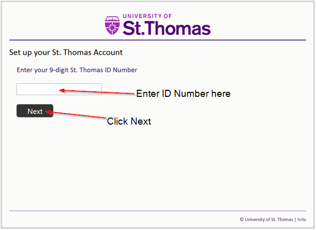 Screenshot of the account claim window where you enter your 9 digit ID Number