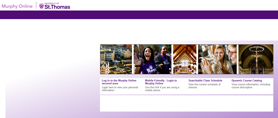 screenshot of the murphy online homepage