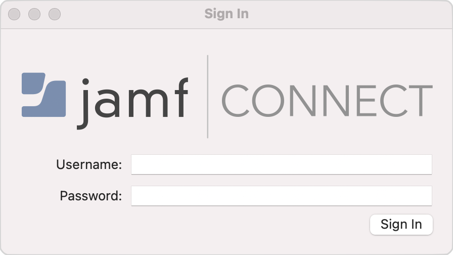 Jamf Connect Sign In Window